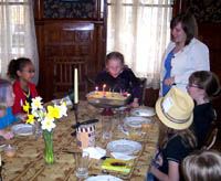Allissa blowing out candles