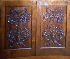 Bottom doors in diningroom sideboard