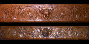 Two carved wood friezes